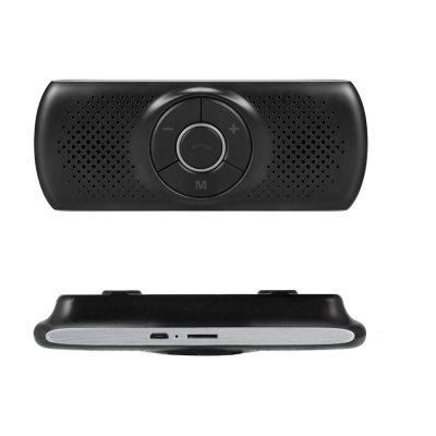 Bluetooth 4.2 Car Speakerphone Hands-free Stereo Music Receiver Player Built-in Mic TF Card Player
