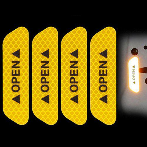 Useful 4Pcs//set Safety Reflective Tape Open Sign Warning Mark Car Door Stickers