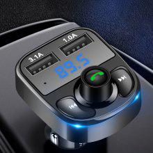 Gearbest Car FM Transmitter Aux Modulator Bluetooth Handsfree MP3 Player 3.1A Fast Charge Dual USB Charger