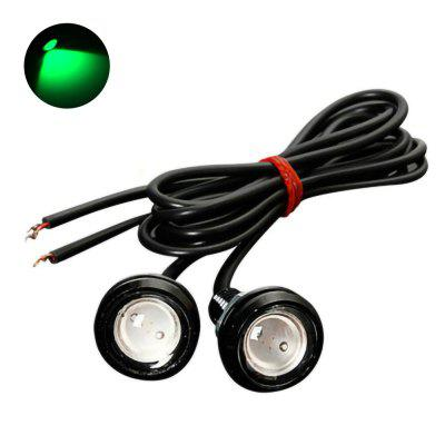 10Pcs Waterproof LED Car Eagle Eyes Daytime Running Lights Backup Lamp Bulb DC12V