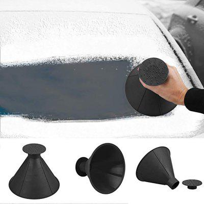 Car Snow Ice Scraper Windshield Snow Removal Shovel Tools Cone Shaped Magic Funnel 2in1