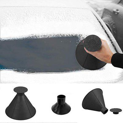 Car Snow Ice Scraper Windshield Snow Removal Shovel Tools Cone Shaped Magic Funnel 3in1