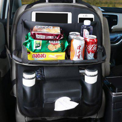 Multi-function Car Storage Bag Seat Back Organizer with Foldable Shelf for Phone Umbrella Drinks