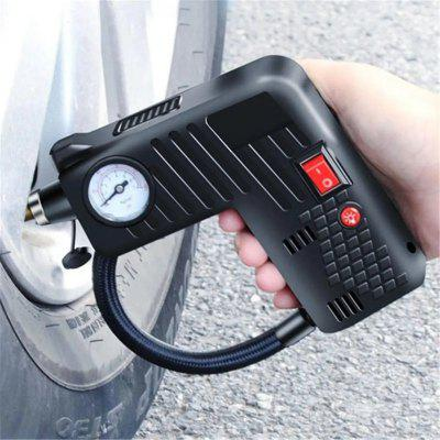 Portable Electric Air Tire Inflator Pump LED Safety Hammer For Auto Car Motorcycle