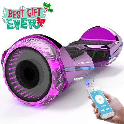 COLORWAY Hoverboard Self Balance Scooter_E-Scooters_Electric Scooter with Two Transparent Wheels