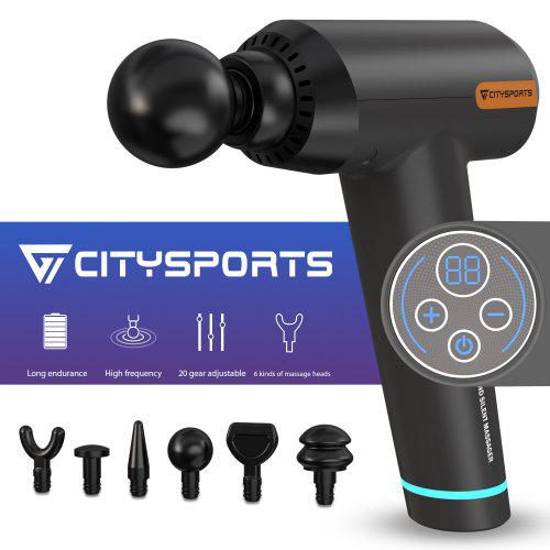 Citysports Hand Personal Muscular Massage Gun Wireless Deep Fabric Massager Portable Massage