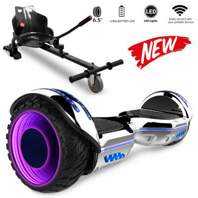 Self Balancing Scooter  Hoverboard 6.5 with Hoverkart Adjustable LED Wheel and Built-in Bluetooth