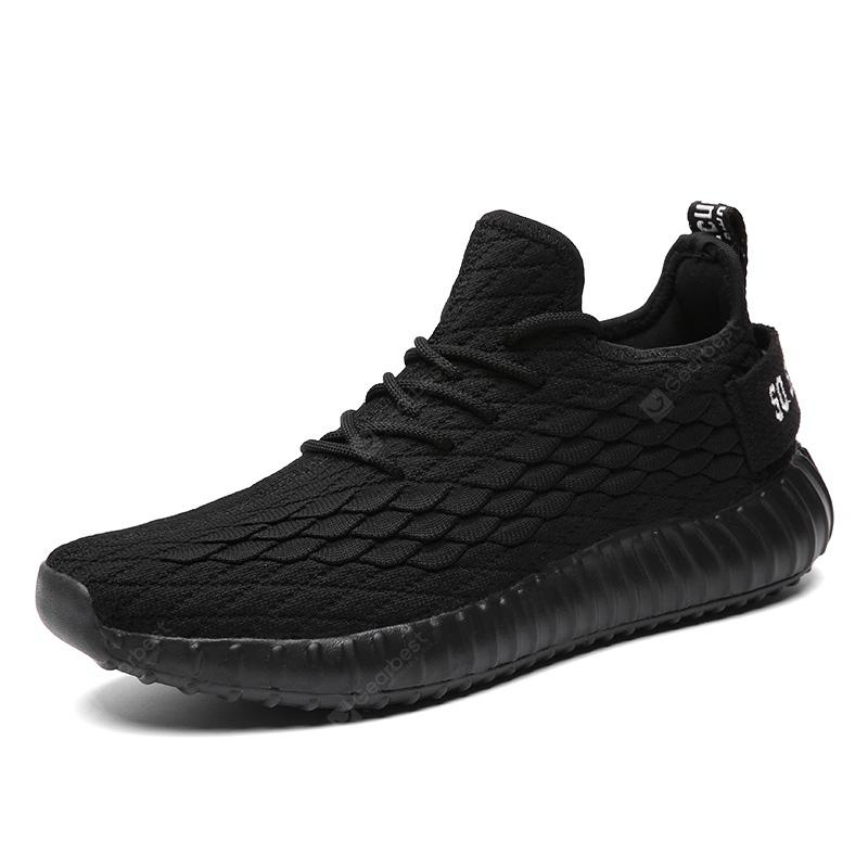 Mens Flying Woven Scales Casual Running Shoes Air Mesh Breathable Lightweight Sneakers Trainers
