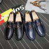 Mens Fashion Mental Horse Loafers Casual Driving Shoes Slip-on Flat Moccasins Boat Shoes Big Size 48