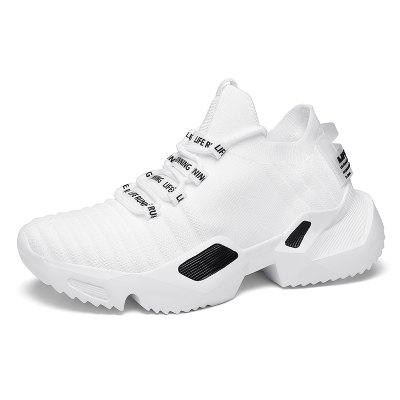 Mens Breathable Walking Shoes Sneakers Fashion Running Shoes