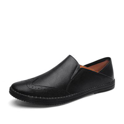 Mens Fashion Brogues Casual Driving Shoes Slip-on Flat Moccasins Boat Shoes