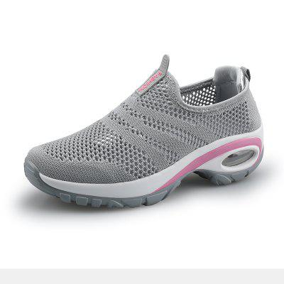 Womens Walking Shoes Breathable Mesh Slip On Sneakers Platform