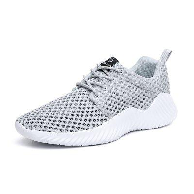 Summer Casual Shoes For Men Fashion Breathable Mesh Lace up Men Flats Sneakers Jogging Shoes