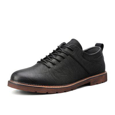TUOKING Men Casual Shoes Male Leather Oxford Leather Dress Shoes