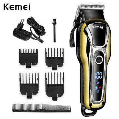 Kemei KM 1990 Professional Hair clipper Rechargeable Shaver LCD screen power display