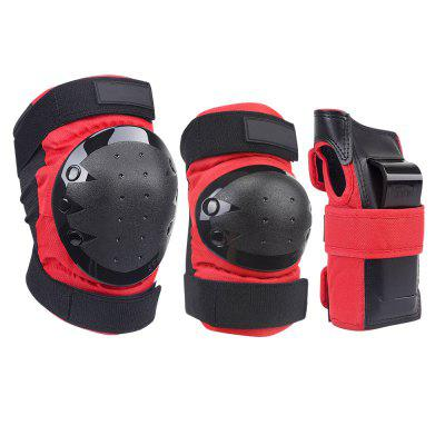 Adult or Child Knee Pads Elbow Pads Wrist Guards 3 In 1 Protective Gear Set For Multi Sports