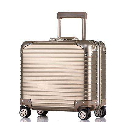 Simon Prince 1050 Aluminum Magnesium Alloy Travel Suitcase Tie Box With Mute Wheel For Men and Women