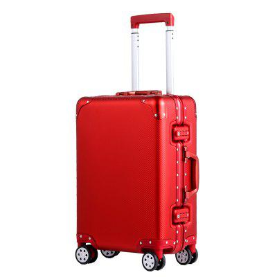 Simon Prince 010 All-Aluminum Tie-Rod Box Luggage with Silent Universal Wheel for Men and Women
