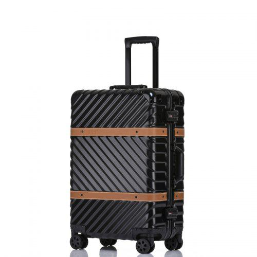 Color : Silver, Size : L Trolley Universal Wheel Aluminum Frame 360 Degree Mute Caster Luggage Student