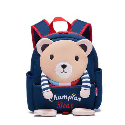 Championber 2018 Stereo Bear Children Schoolbag with Shoulder Backpack for Boys And Girls