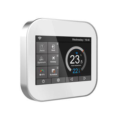Wifi touch thermostat for water heating radiator valve by English German Polish Czech Italian