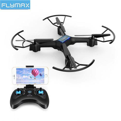 Gearbest Flymax 2 WiFi Quadcopter 2.4G WIFI FPV Streaming Drone With Wide Angle HD Camera RC Quadcopter Drone - black Czech Republic