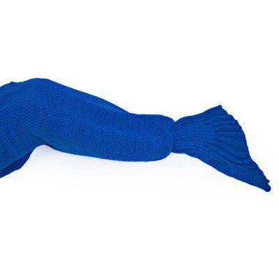 4 Colors Mermaid Tail Blanket Crochet Mermaid Blanket For Adult Super Soft Sleeping Knitted Blankets