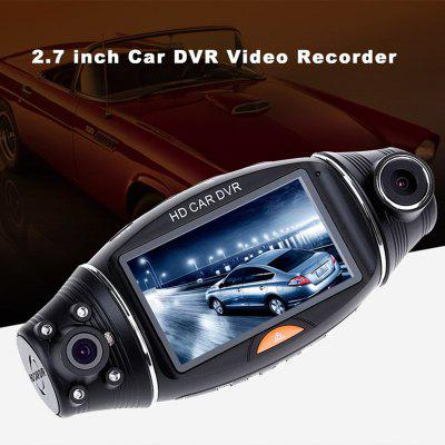R310 GPS Double Lens 140 Degrees Wide-angle Night Vision Gravity Sensing Driving Recorder Image