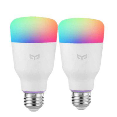 Yeelight 10W RGB E27 Wireless WiFi Control Smart Light Bulb 2pcs Xiaomi Ecosystem Product