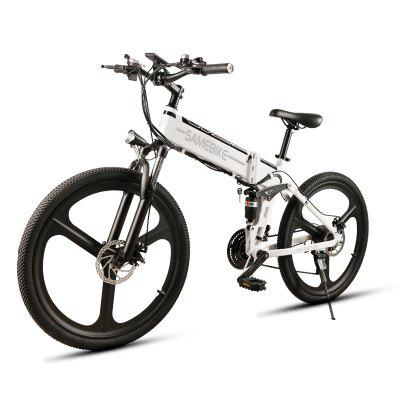 SAMEBIKE Folding Mountain Bike 48V 10AH Electric Mountain Bicycle 21 Speed Electric Mountain Bike