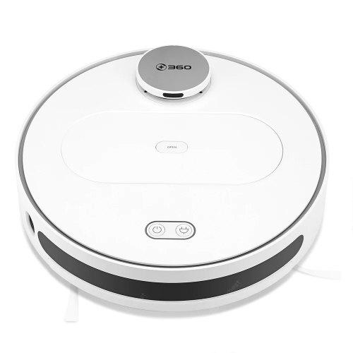 360 S6 Robot Vacuum Cleaner 1800PA Automatic Sweeping Dust Sterilize Laser LDS Smart Planned - White EU Russian Federation (entrepôt EU