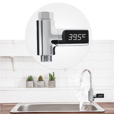 LED Display Water Temperature Self-Generating Electricity Water Temperature Meter Monitor