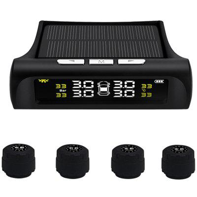 Tire Pressure Monitoring System Guage Wireless Solar External Snesor Tyre Pressure Detector