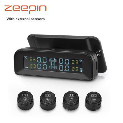 ZEEPIN C260 TPMS Solar Power LCD Display Tire Pressure Monitoring System ML10