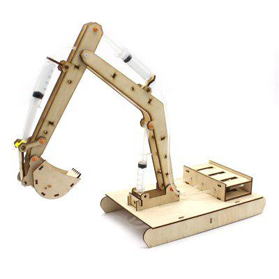 Hydraulic Excavator DIY Science Education Toys Model for Kids