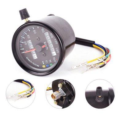 12V Speedometer Motorcycle Dual Odometer Instrument Gauge LED Backlight Signal Light ML062