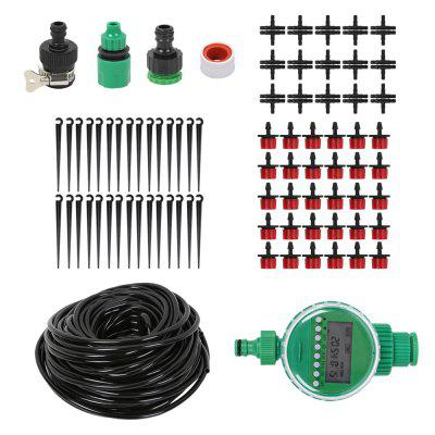 25M DIY Drip Irrigation Kit with Timer Garden Dripping Tools Set