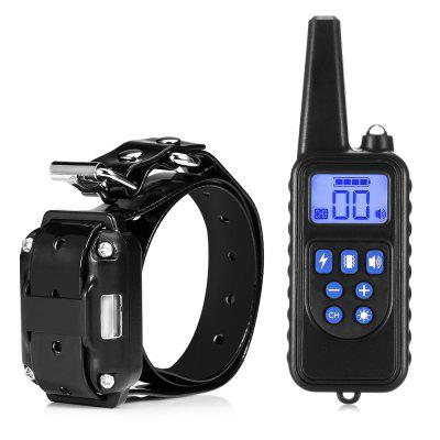 880 800m Waterproof Rechargeable Dog Training Collar Remote Control LCD Display