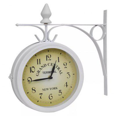 Wall Clock Two-Sided Classic Design Home Office Clocks White