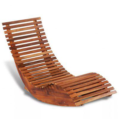 Outdoor Recliner Chairs Rocking Sun Lounger Acacia Wood