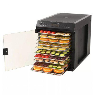 Food Dehydrator Stainless Steel with 11 trays 480W Black