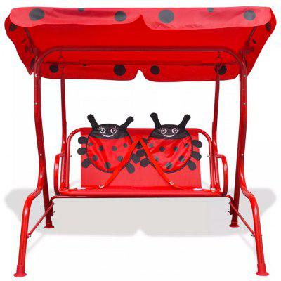 ES Warehouse Kids Swing Seat with a sunshade canopy Garden Outdoor Children Swing Red