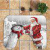 Father Christmas and Snowman Pattern 3Pcs Bathroom Mats Set ML109