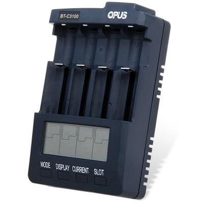 Digital Intelligent 4 Slots LCD Battery Charger for Li-ion NiCd NiMh Batteries