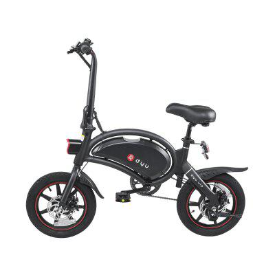 dyu D3plus Aluminum alloy 36V 10AH Battery Electric Bike Electric Bicycle 25km per Hour Image