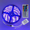 ZDM 1 Set 5m 16.4ft Waterproof 5050 RGB 300 LEDs Soft Light Bar with IR 44 Key Controller DC12V
