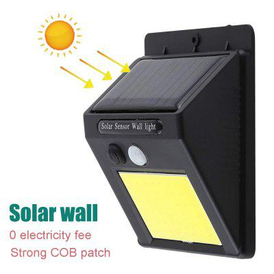 ZDM COB Human Body Induction Wall Lamp Solar Light Control Outdoor Lighting Polysilicon Waterproof
