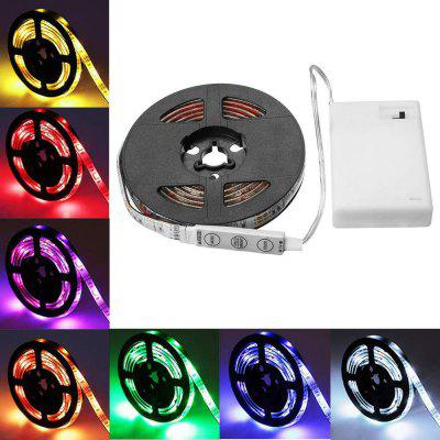 Battery power 5050 RGB Waterproof Background strip light 30 LEDs per meter with 3 key controller