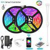 WiFi Intelligent Remote Dimming Waterproof 2X5M 5050 SMD RGB LED Strip Lighting Kit with 6A Power