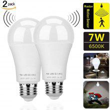 Gearbest ZDM 2PCS 7W E27 Radar Induction And Light-Operated Intelligence LED Light Bulb Dusk To Dawn Safety